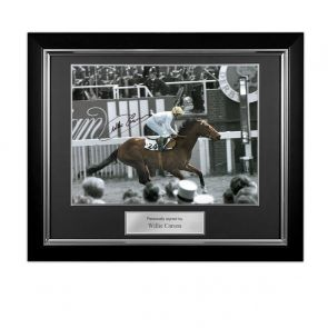 Framed Willie Carson Signed Troy Photo