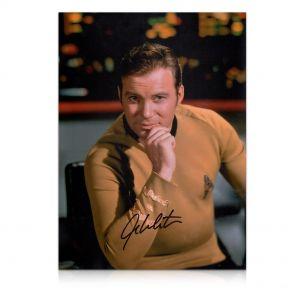 William Shatner Signed Star Trek Photo: The Captain In Gift Box