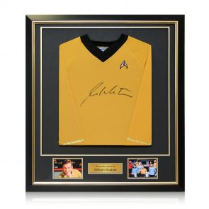 Deluxe Framed William Shatner Signed Jersey