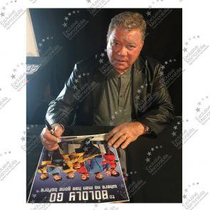 Framed William Shatner Signed Star Trek Poster: To Boldly Go