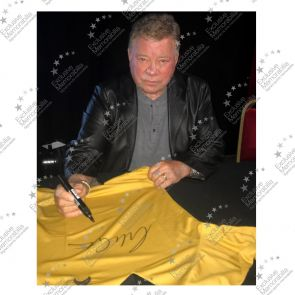 William Shatner (Captain Kirk) Signed Star Trek Jersey. Framed