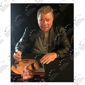 Framed William Shatner Signed Star Trek Photo: The Captain