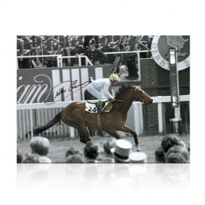 Willie Carson Signed Troy Photo