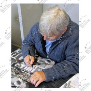 Willie Carson Signed Horse Racing Photo: Troy. Deluxe Frame