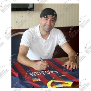 Xavi Hernandez And Andres Iniesta Signed 2013-14 Barcelona Football Shirt