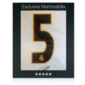 Signed Zidane shirt in gift box