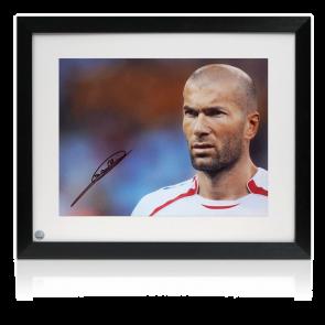 Zinedine Zidane Signed France Photo: Portrait Of A Genius Framed