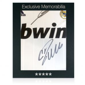 Ronaldo and Zidane signed Madrid shirt in gift box