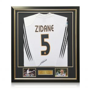 Zinedine Zidane Signed Real Madrid 2004-05 Football Shirt With Long Sleeves And LFP Badge