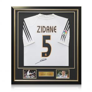 Framed Zinedine Zidane Signed 2004-05 Shirt