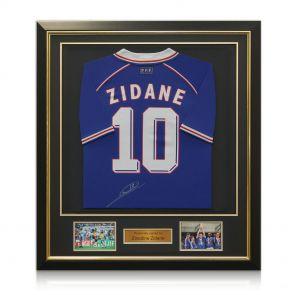 Zinedine Zidane Signed Framed France 1998 Football Shirt