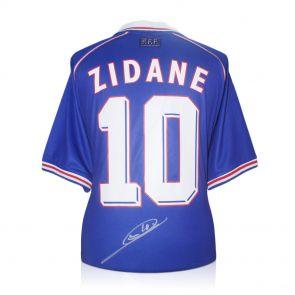 Deluxe Framed Zinedine Zidane Signed France 1998 Football Shirt (Silver Inlay)