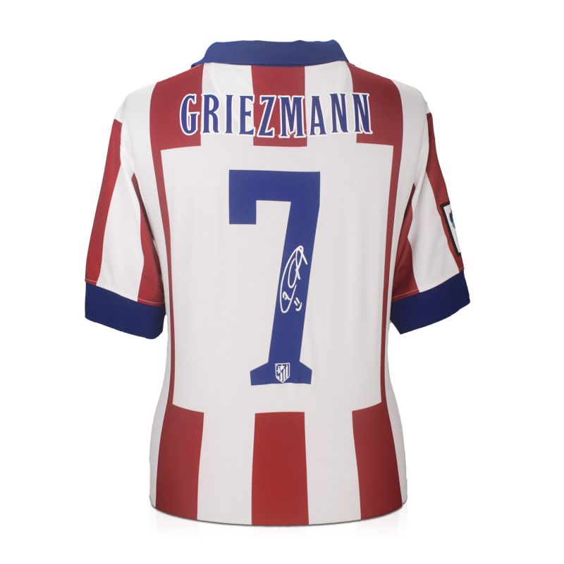 huge discount d97d1 9264e Antoine Griezmann Signed Atletico Madrid Football Shirt