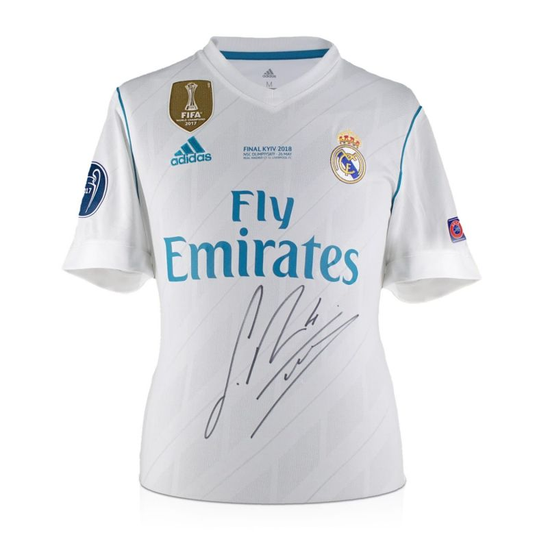 check out 47109 d0621 Sergio Ramos Signed 2017-18 Real Madrid Champions League Final Shirt