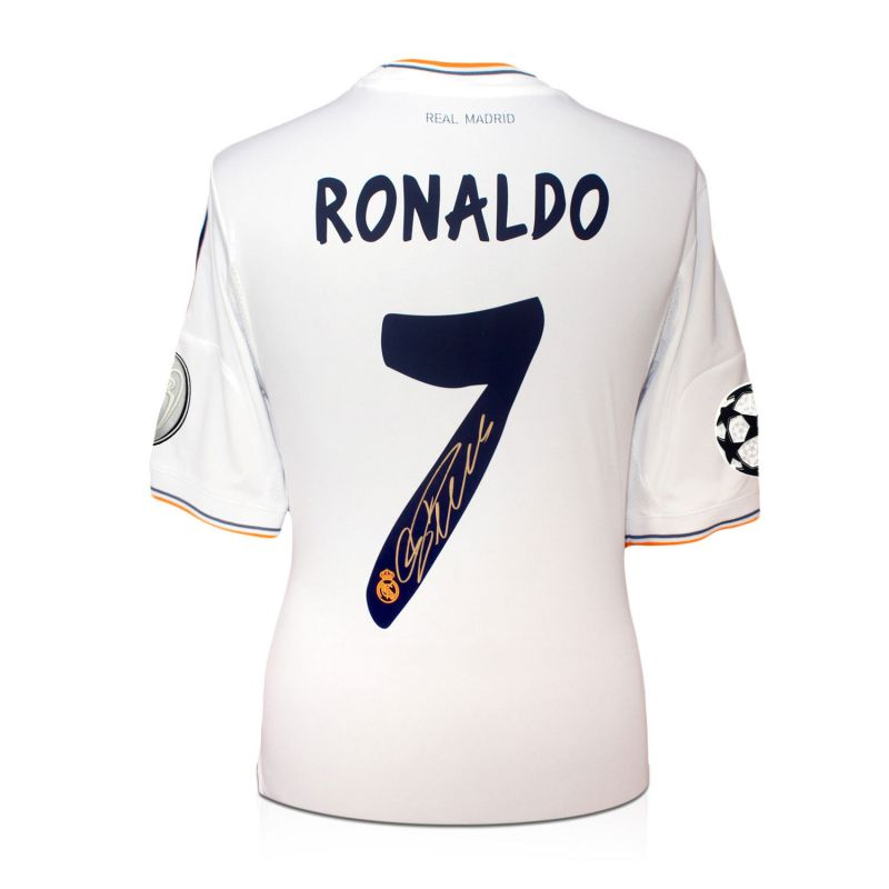 new concept d9a61 84c79 Cristiano Ronaldo Signed Real Madrid Champions League Football Shirt