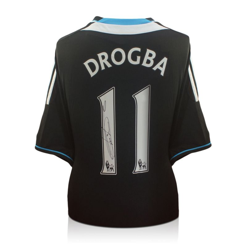 new product f6444 3d071 Didier Drogba Signed Chelsea 2011-12 Premiership Away Shirt