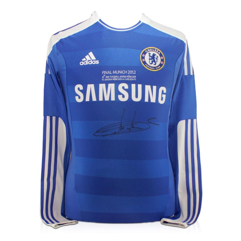info for 63964 438d2 Didier Drogba Signed Chelsea 2012 Champions League Final Shirt With Long  Sleeves