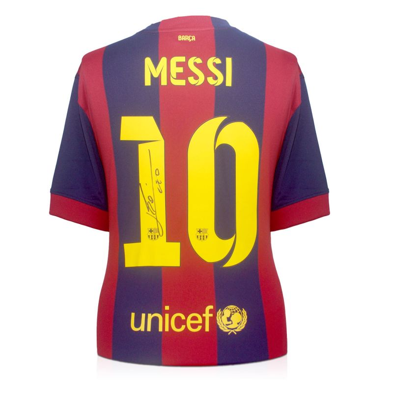 new style d5867 695b2 Lionel Messi Signed 2014-15 Barcelona Football Shirt