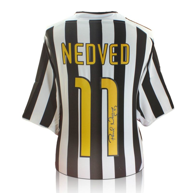 best service 95d2e 9a8b6 Pavel Nedved Signed Juventus Football Shirt