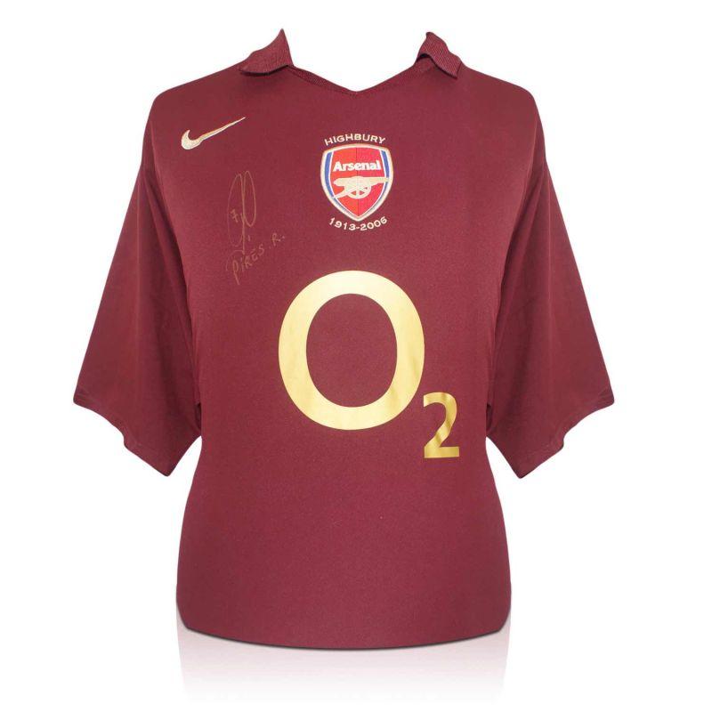 timeless design de681 369b6 Robert Pires Signed Arsenal 2005-06 Farewell To Highbury Shirt