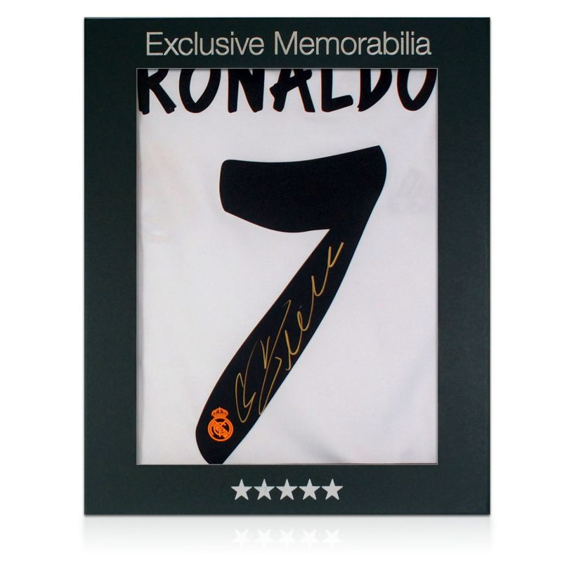 separation shoes edef0 fd240 Cristiano Ronaldo Signed Real Madrid Football Shirt In Gift Box