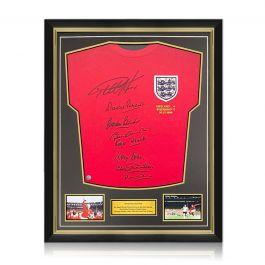 England 1966 World Cup Winning Team Signed Shirt. Superior Frame