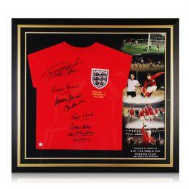 England 1966 World Cup Winning Team Signed Shirt. Premium Frame