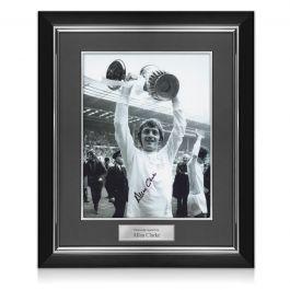 Allan Clarke Signed Leeds United Photo. Deluxe Frame
