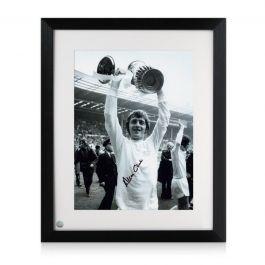 Allan Clarke Signed Leeds United Photo. Framed