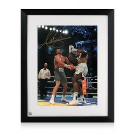 Framed Anthony Joshua Signed Photo: The Klitschko Uppercut
