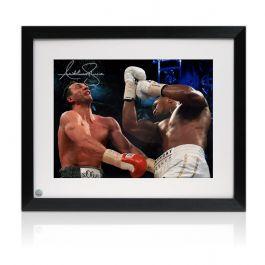 Framed Anthony Joshua Signed Boxing Photo: The Klitschko Uppercut (Landscape)