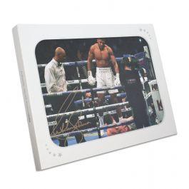 Anthony Joshua Signed Photo: The Ali Pose In Gift Box