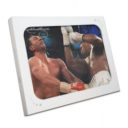 Anthony Joshua Signed Boxing Photo: The Klitschko Uppercut (Landscape) In Gift Box