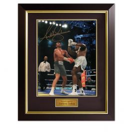 Anthony Joshua Signed Photo: The Klitschko Uppercut In Deluxe Black Frame With Gold Inlay