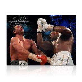 Anthony Joshua Signed Boxing Photo: The Klitschko Uppercut (Landscape)