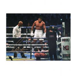 Anthony Joshua Signed Photo: The Ali Pose