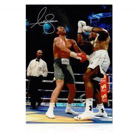 Anthony Joshua Signed Boxing Photo: Klitschko Uppercut