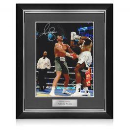 Anthony Joshua Signed Boxing Photo: Klitschko Uppercut. Deluxe Frame