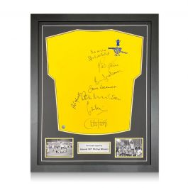 Arsenal 1971 FA Cup Winners Multi Signed Shirt. Standard Frame