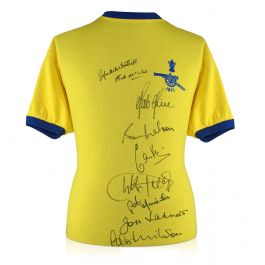 Arsenal 1971 FA Cup Winners Multi Signed Shirt