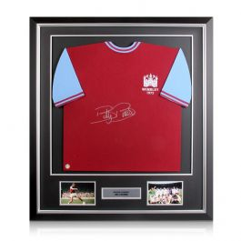 Billy Bonds Signed West Ham Shirt.1975 FA Cup Final. In Deluxe Frame