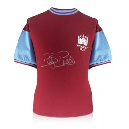 Billy Bonds Signed West Ham 1975 FA Cup Final Shirt