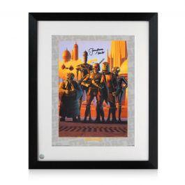 Boba Fett Signed Star Wars Bounty Hunters Poster Framed