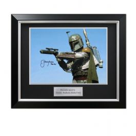 Boba Fett Signed Star Wars Photo: The Most Feared. Deluxe Framed