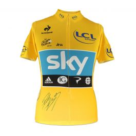 Bradley Wiggins Signed Tour De France 2012 Yellow Jersey