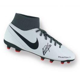 Bruno Fernandes Signed White Football Boot
