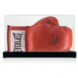 Carl Froch Signed Red Boxing Glove In Display Case