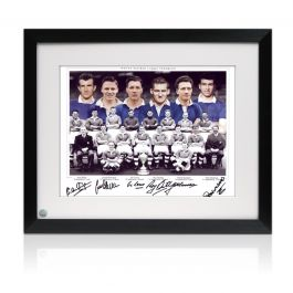Chelsea 1955 Team Signed Photograph Framed