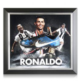 Cristiano Ronaldo Signed CR7 Framed Football Boot: Juventus Presentation