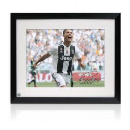 Framed Cristiano Ronaldo Signed Juventus Photograph